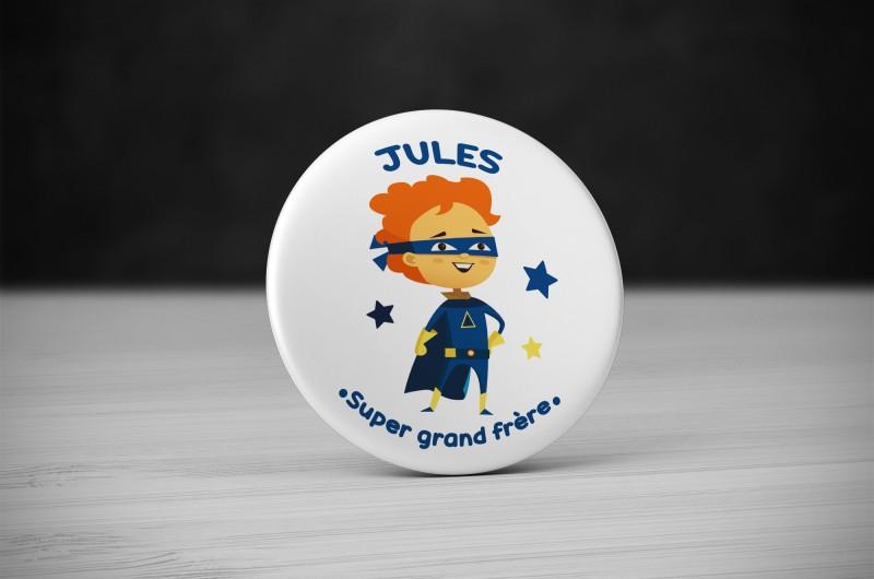 Badge Super Héros Grand Frère