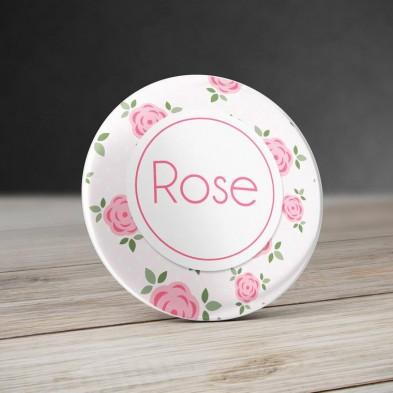 Badge personnalisé Roses