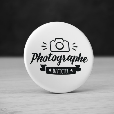 Badge Métier Photographe Officiel
