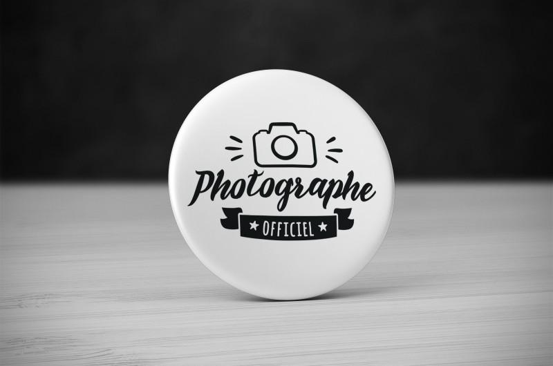 Badge Métier Photographe Officiel
