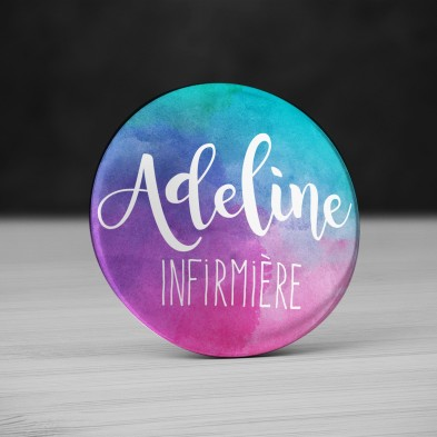 Badge Métier Aquarelle