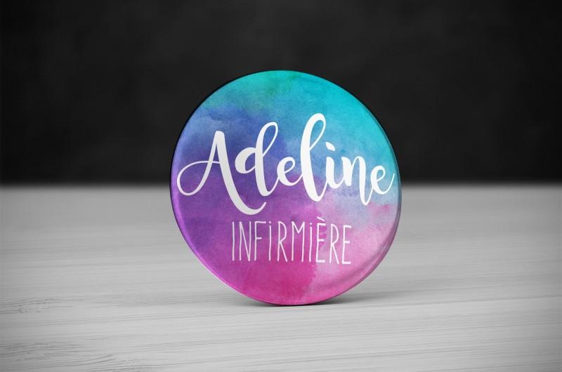 Badge Métier Aquarelle