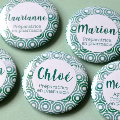 Badge Métier Pharmacie