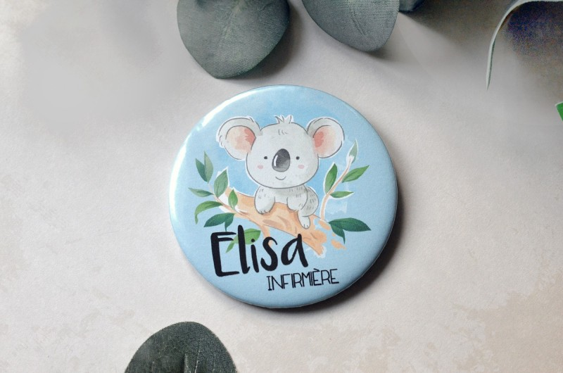 Badge Koala personnalisé