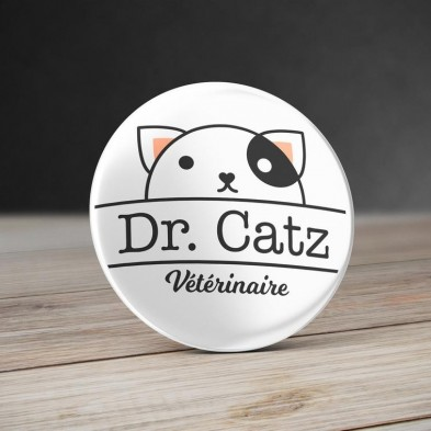 Badge Vétérinaire Chat