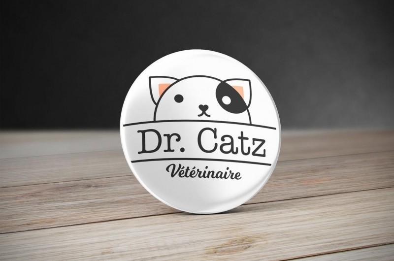 Badge Vétérinaire Chat