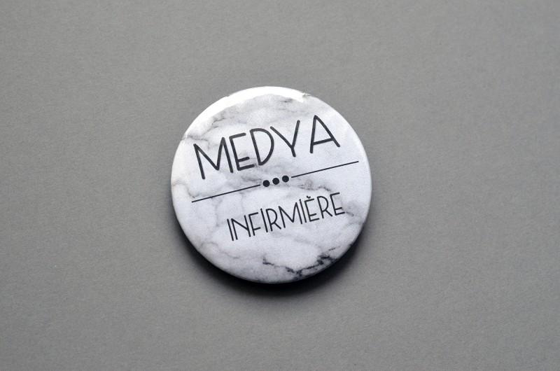 Badge Marbre personnalisé