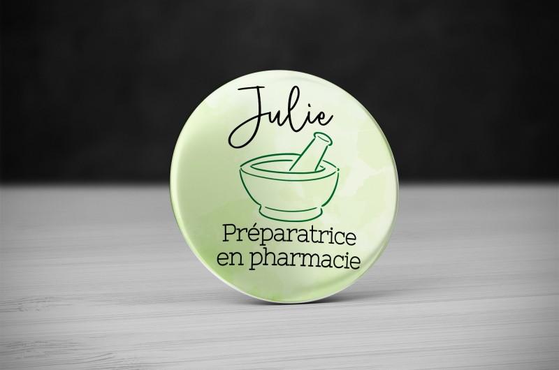 Badge Métier Pharmacie - Mortier