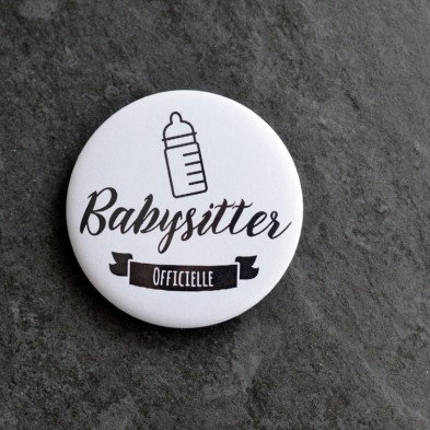 Badge Métier Babysitter Officielle