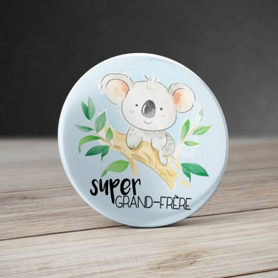 Badge Super Grand Frère Koala