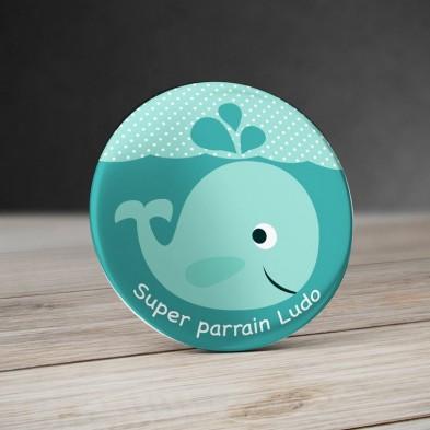 Badge Baleine personnalisé